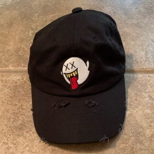 Distressed Boo Mario Ghost Embroidery Dad Hat